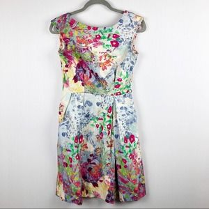 Closet Floral Fit and Flare Cotton Picnic Dress